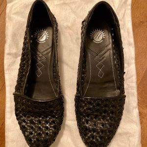 H by Hudson Leather Woven Loafers
